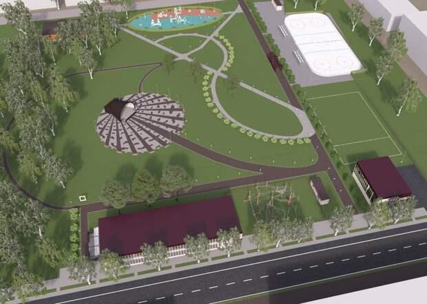 В центре Завьялово началось благоустройство парка «Березовая роща»