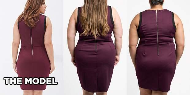 То же самое платье размера 2X со спины интернет, полные женщины, шопинг
