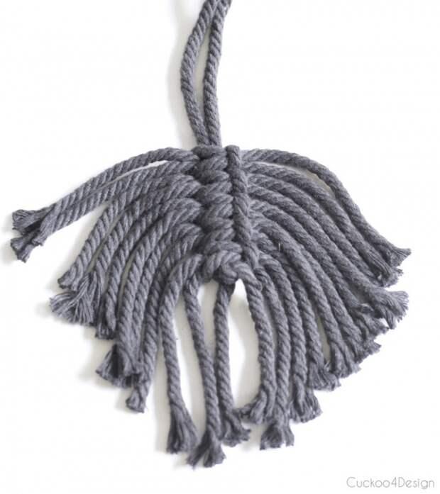 Верёвочные перья (Diy)