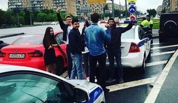 В Москве золотая молодежь устроила гонки с полицией