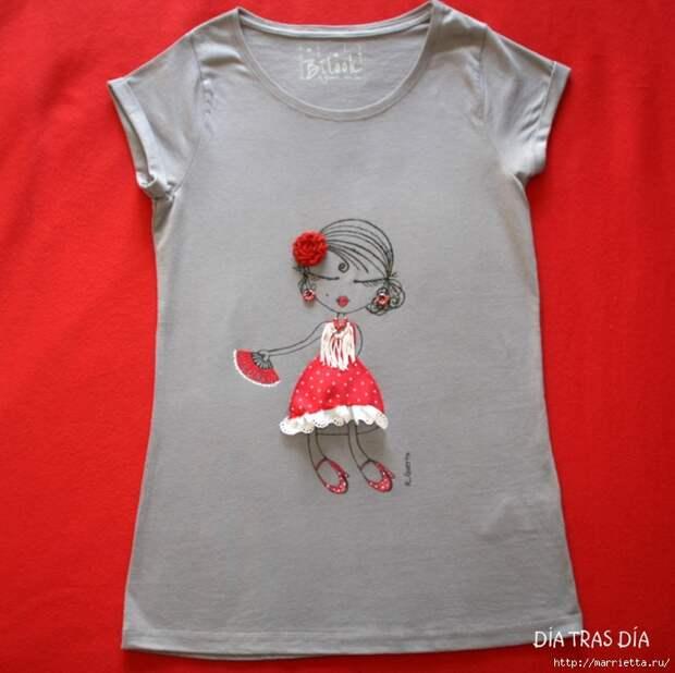 Аппликация с вышивкой на детских футболках (7) (700x698, 271Kb)