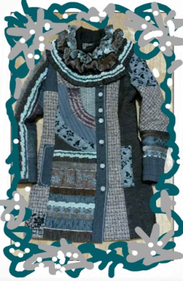 Пальто из лоскутков(подборка)