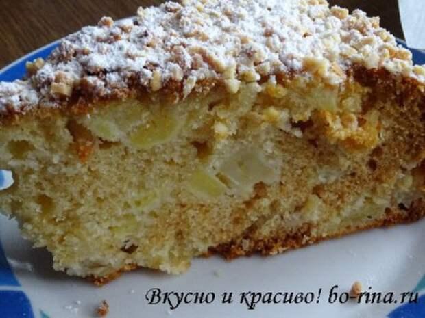 Десертный вихрь. Пироги с яблоками. Медовый пирог с яблоками и орехами
