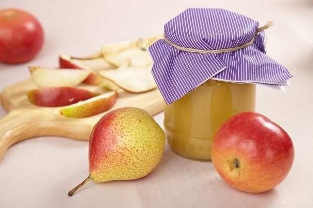 Яблочно-грушевый мусс