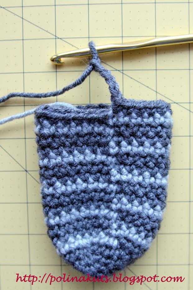 Очень подробный мастер-класс от Polina Kuts: Варежки крючком на флисовой подкладке