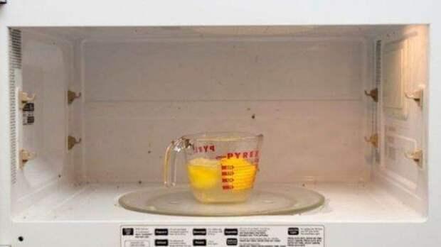 Чистая микроволновая печь лимон, польза
