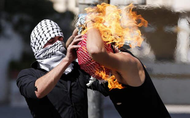 Палестинский демонстрант
