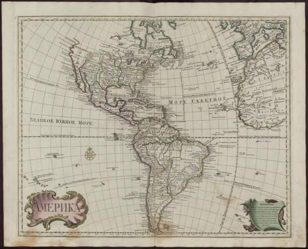 Карта Америк