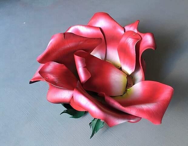 Потрясающий костюм розы из пены и туалетного сиденья
