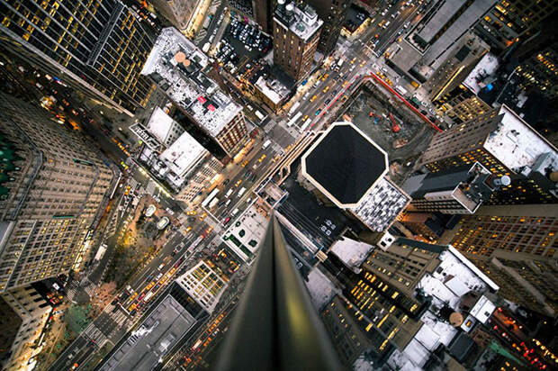 Нью-Йорк в высоты небоскреба