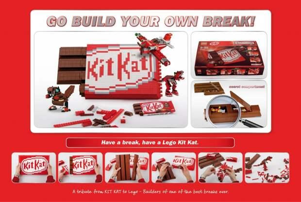 Kit Kat признался в любви Lego