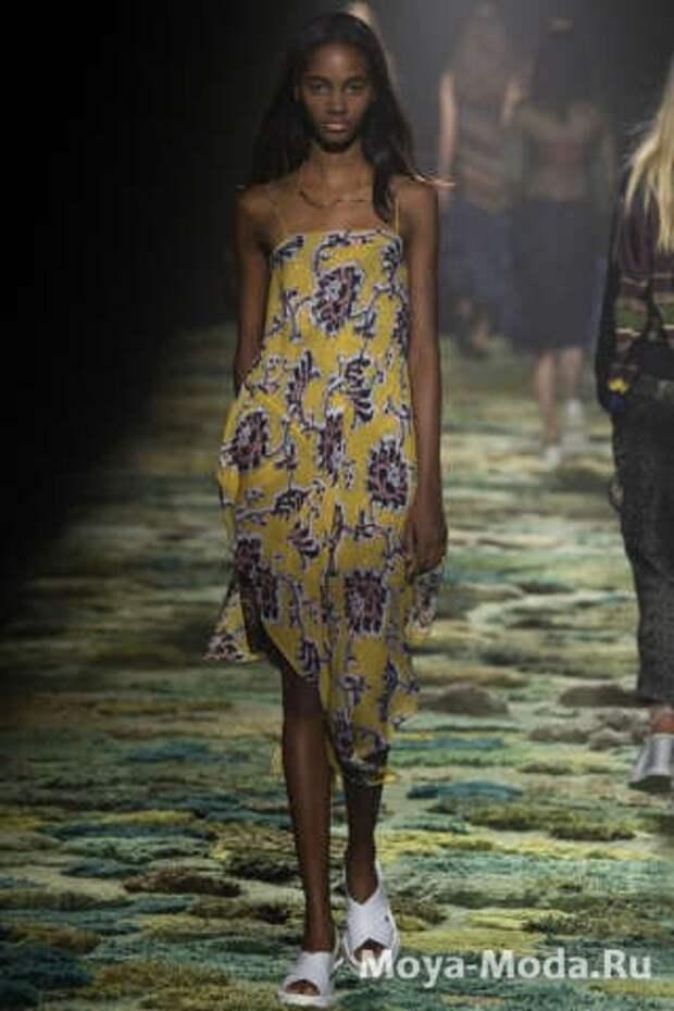 Модные сарафаны весна-лето 2015 Dries Van Noten