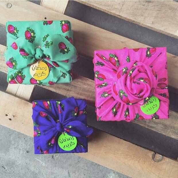 Упаковка в подарок платков (подборка, diy)