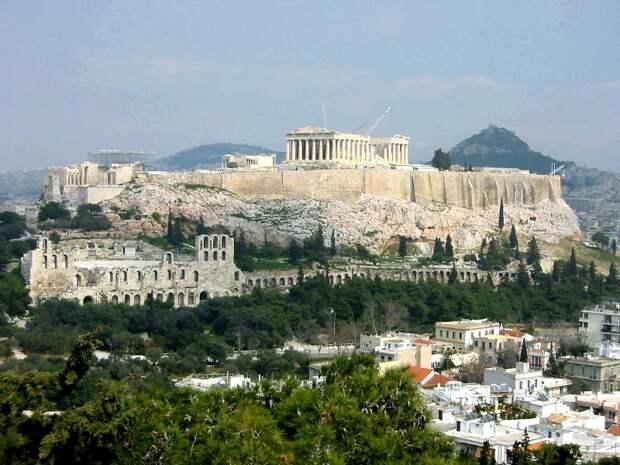 Афины (Греция), самое жаркое место в Европе. Фото
