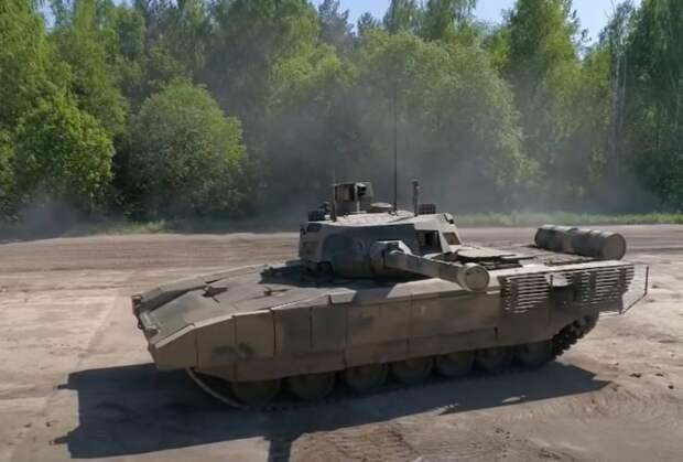 Испытания танка Т-14 «Армата» и другой бронетехники на полигоне 38-го НИИИ БТТ Минобороны РФ