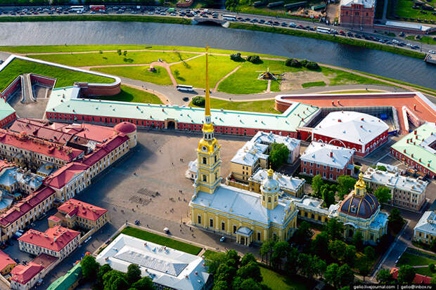 Санкт-Петербург с вертолета