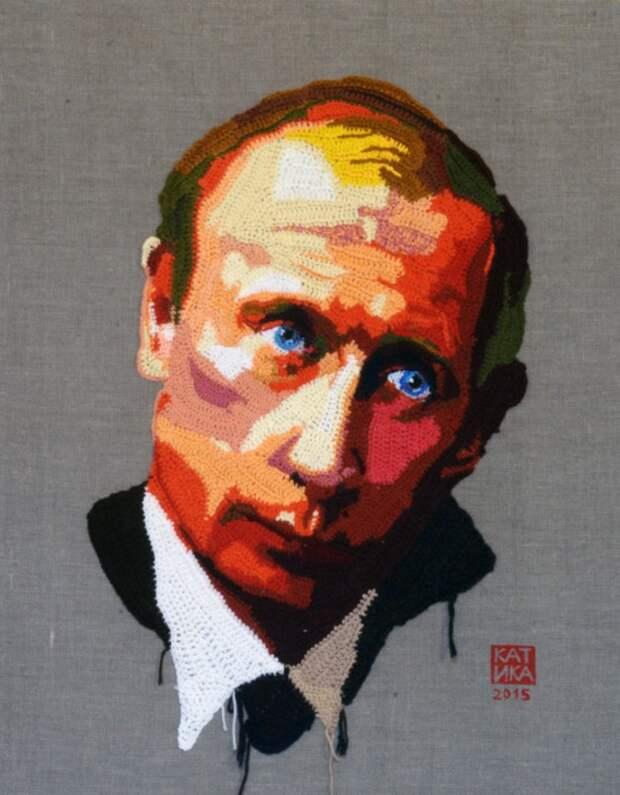"""Вязаные """"принты""""  Екатерины Пензиной"""