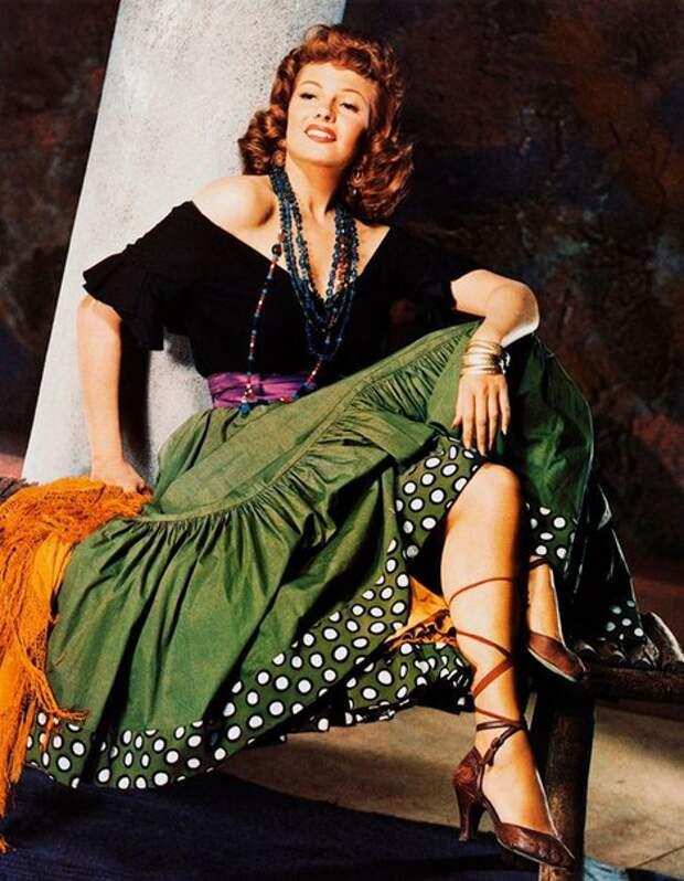 Рита Хэйворт в образе Кармен. 1948 год.