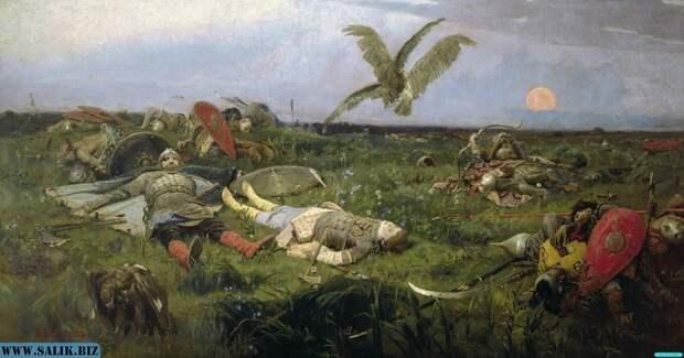 В. Васнецов *После побоища Игоря Святославича с половцами*.