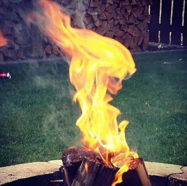 6. Лицо пламени момент, фотография