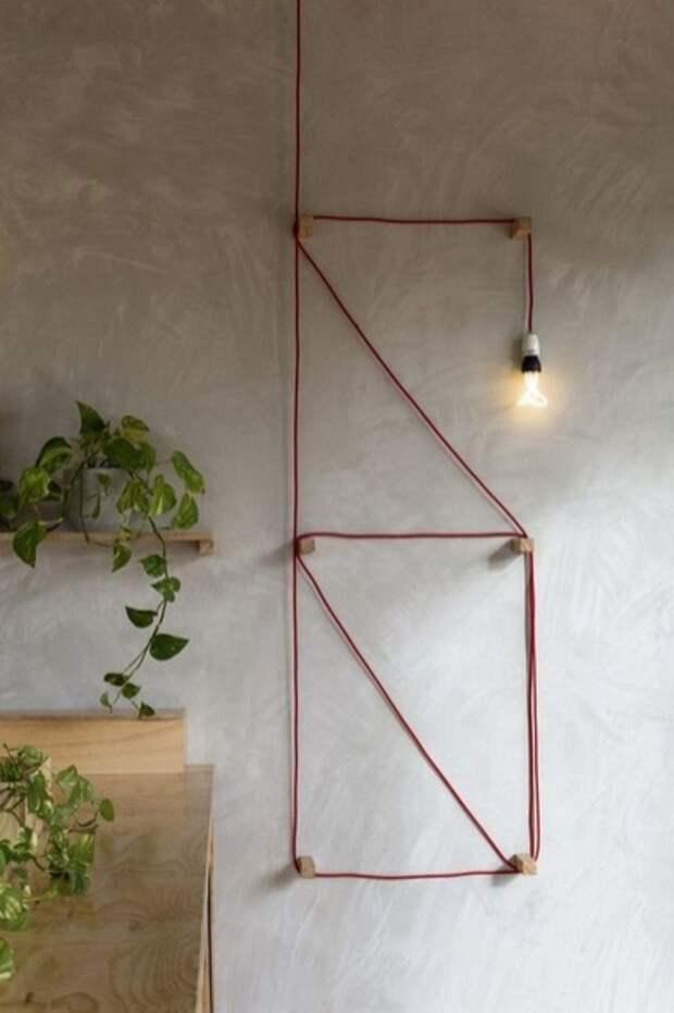 Провода и лампа
