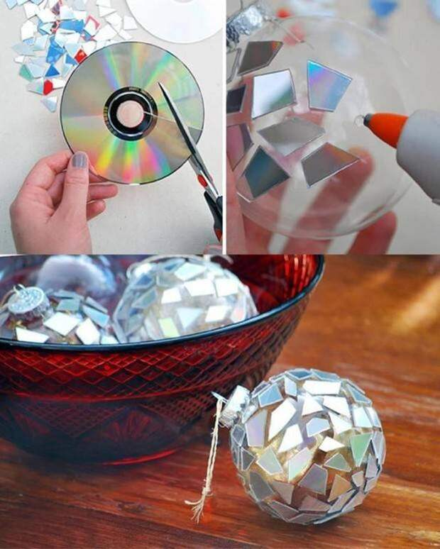 12 поделок из старых CD-дисков CD-диск, поделка, своими руками