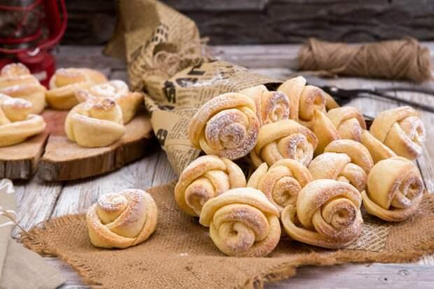 Печенье Роза из творожного теста. Готовится очень легко 4