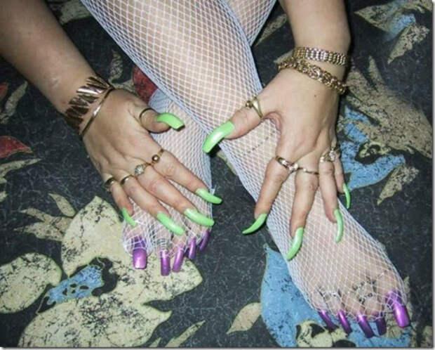 10. Идеальные ногти девушки, красота, юмор