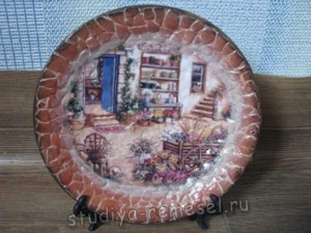 Декоративная тарелка своими руками в стиле прованс
