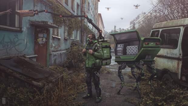 11 киберпанковых артов, которые показывают Россию после пандемии