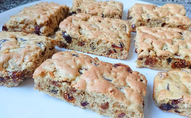 Польское печенье Мазурка на замену пирогу: добавляем в тесто орехи и сухофрукты