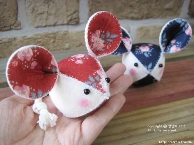 Мышки из декоративного войлока (21) (700x524, 227Kb)
