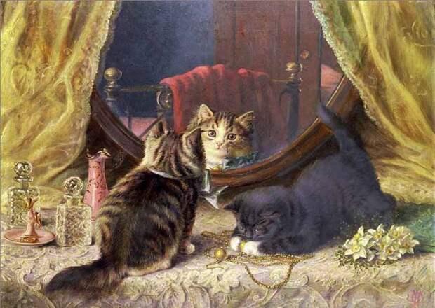 Художник Horatio Henry Couldery. Деревенские кошки совсем не такие, как живущие в неге коты городские