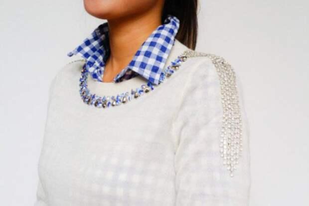 Нарядный декор свитера (Diy)