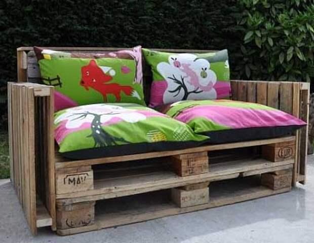мебель для дачи из деревянных поддонов своими руками