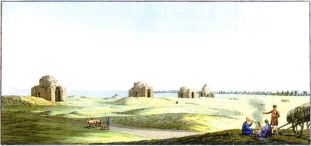 Последние сохранившиеся мавзолеи Маджара по П.С.Палласу