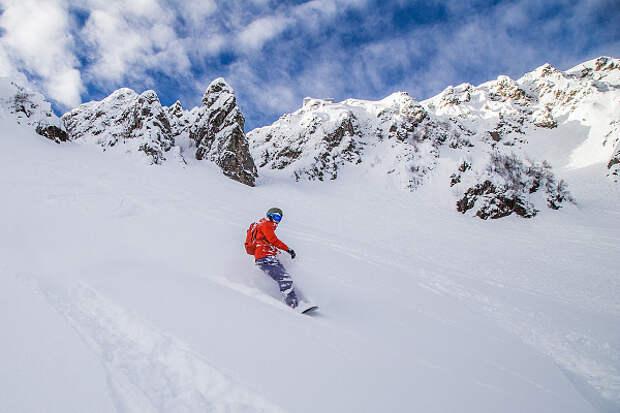 В Сочи из-за схода лавин закрыли горнолыжный курорт