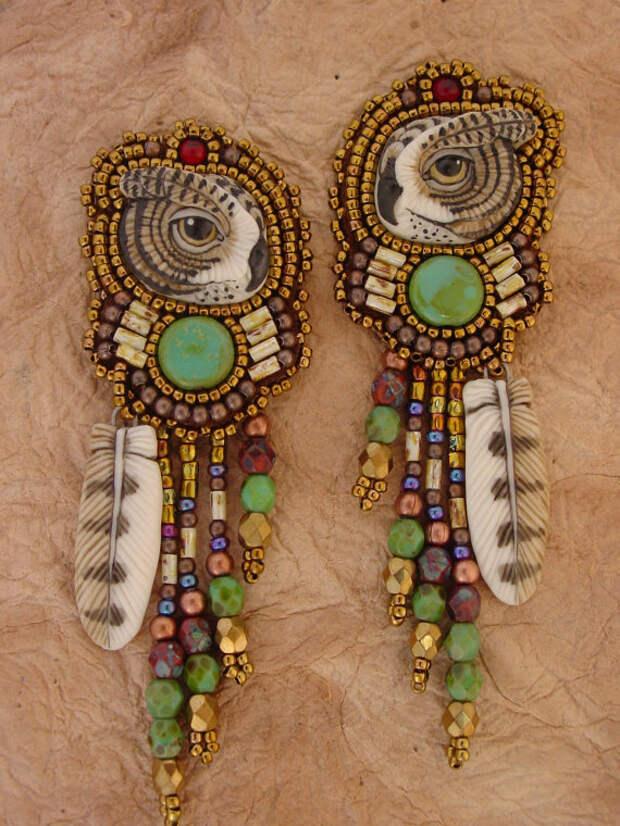 RESERVED FOR JONATHAN Owl earrings