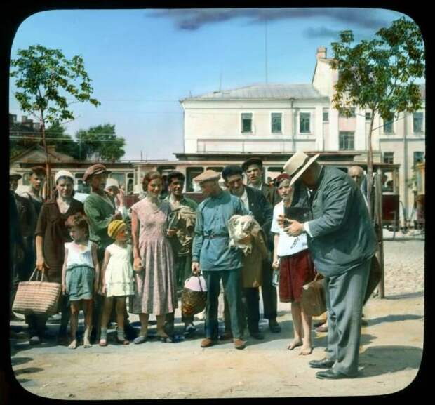 Россия 1930-32 годов в цвете, снимки Б. Деку