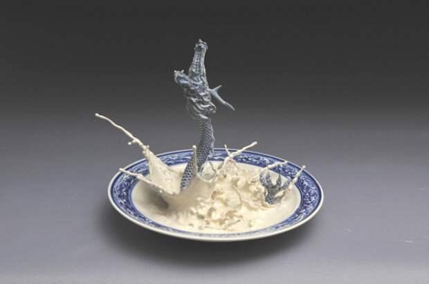 Дракон в тарелке от Johnson Tsang