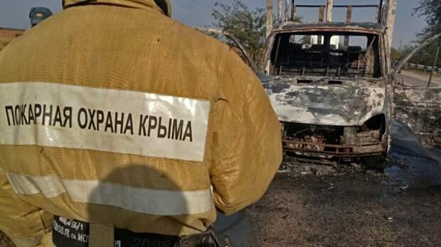 В Красногвардейском районе Крыма сгорела ГАЗель