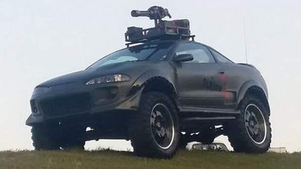 Mitsubishi Eclipse подготовленный для истребления зомби eclipse, mitsubishi, апокалипсис, зомби