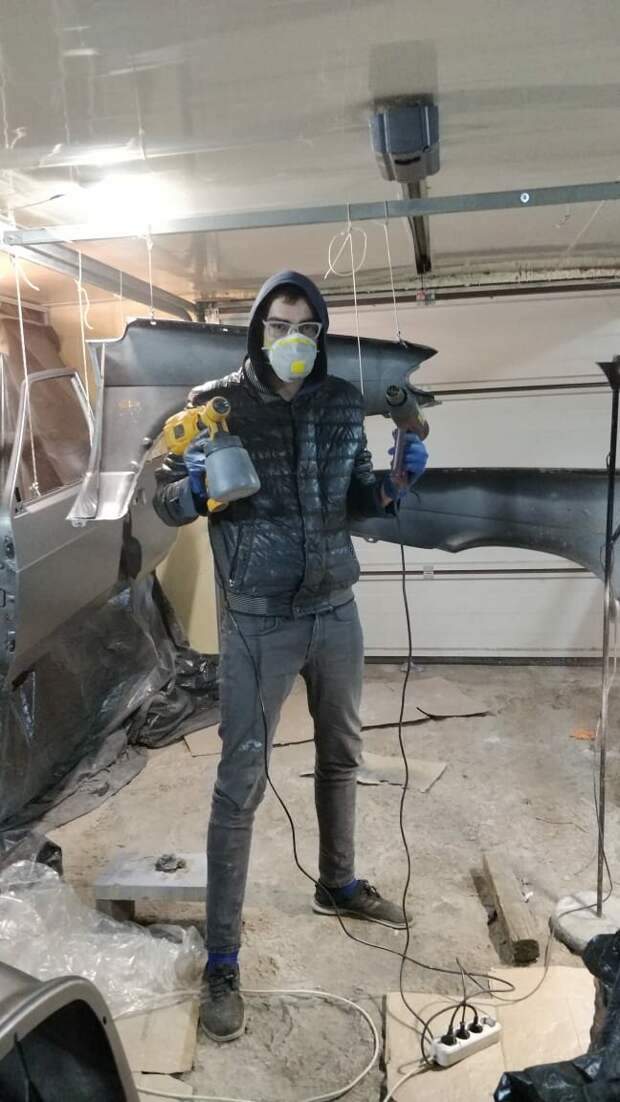 Можно ли покрасить автомобиль Электричсеким краскопультом? ВАЗ-2115