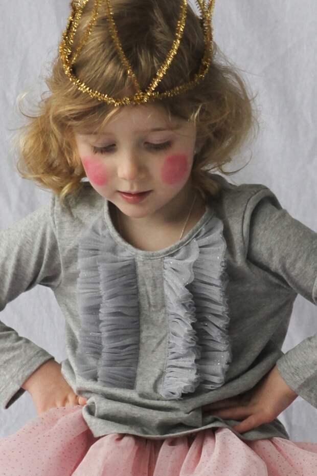 Декор детской футболки для принцессы