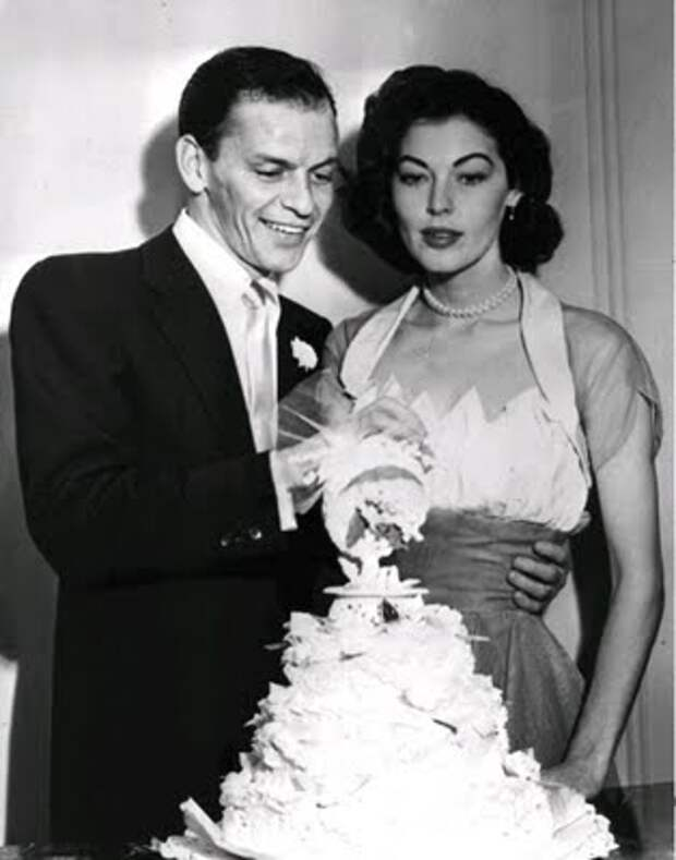 фото Авы Гарднер и ее второго мужа  Фрэнка Синатры
