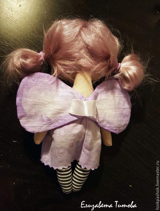 Шьем куколку «лавандовый мотылек» из обрезков ткани, фото № 13
