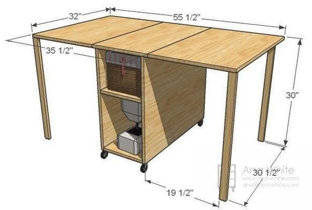 Как сделать стол для раскроя и шитья: рабочее место швеи 6