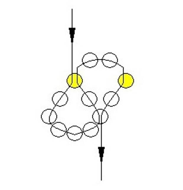 Схема колье из бисера и бусин бесплатно