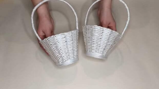Плетём корзину из верёвки
