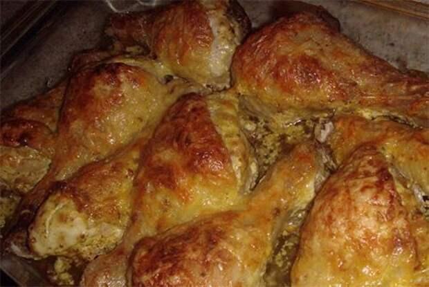 Куриные ножки со сметаной и сыром